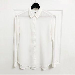 Uniqlo EZ Care White Shirt